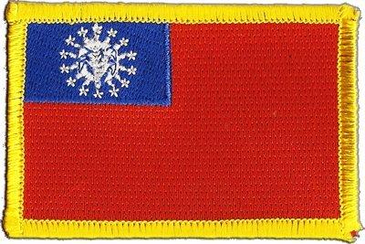 Aufnäher Patch Flagge Myanmar - 8 x 6 cm