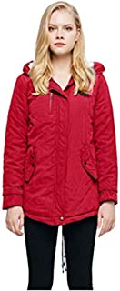 Doric Womens Winter Faux Fur Hoodie Sherpa Lined Military Utility Fashion Parka Jacket Coat