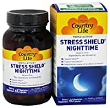 Country Life - Triple-Action Stress Shield Nighttime - 60 Vegetarian Capsules