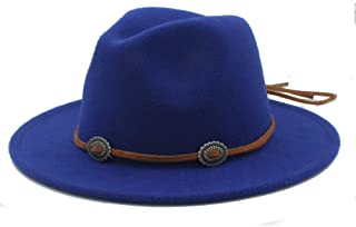 SHENTIANWEI Men Women Winter Fedora Hat Panama Jazz Hat Wide Brim Church Fascinator Hat Casual Wild Jazz Hat Size 56-58CM