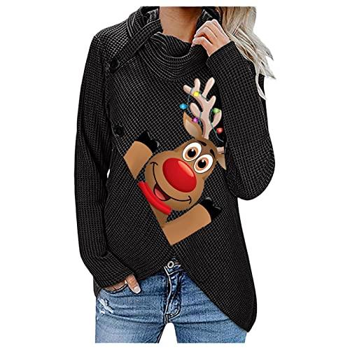 Weihnachten Oversize Pullover v Ausschnitt Damen Damen Tunika Langarm dapper damenoberbekleidung Sommer Oberteile Damen Herbst soxxcs Damenbekleidung Pulli Shirt Damen Schuhe Herbst dapper thumbnail