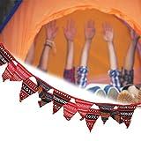 Pwshymi Tente Suspendue Bannières Camping Décoration 14pcs Papier Suspendu pour Anniversaire