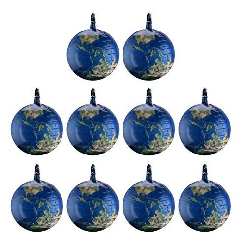 TOYANDONA 10 Stück Erde Luftballons Aluminiumfolie Party Luftballons Weltkarte Luftballons Globus Folie Luftballons für Kinder Geburtstagsfeier Event Dekorationen Sortiert Farbe 22 Zoll