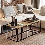 Yurupa Beistelltisch,Kaffeetisch,Sofatisch,Tisch Set,3 er Set Couchtisch/tische,3 teilig Satztisch,Industrie Design,Vintage Look VG9-A