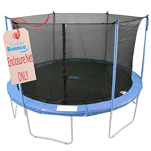 Upper Bounce Trampoline Safety Net for Round Trampoline using Variant poles and Arches - Breathable...