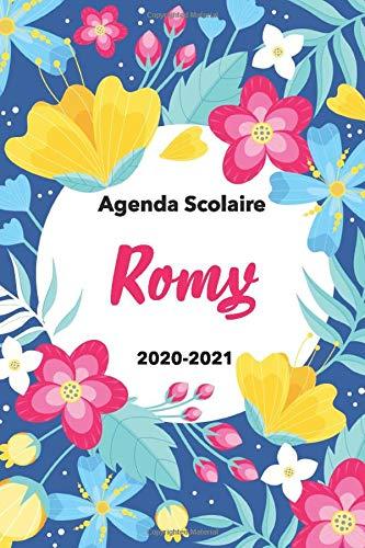 Romy:Agenda Scolaire 2020-2021: Agenda semainier et journalier Emploi du temps Cadeau prénom, Prénom agenda personnalisé.