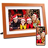 Henscoqi 10.1 inch WiFi Digital Photo Frame with IPS HD Display 1280x800, 16GB Storage Smart Digital Picture Frame Share Picture&Video on Widescreen, Touch Screen Digital Photo Frame as Gifts