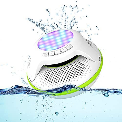 BMDHA Altavoz Bluetooth Potente,Echo Dot Impermeable PortáTil, Altavoces Altavoz De Subgraves Altavoces Bluetooth InaláMbrica Bluetooth Radiio FM Luces led Outdoor Stereo
