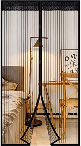 Extsud Magnet Fliegengitter Tür Insektenschutz Magnetischer Fliegenvorhang 80x200cm Moskitonetz Automatisches Schließen Insektenschutz für Balkontür Wohnzimmer Terrassentür Klebemontage ohne Bohren