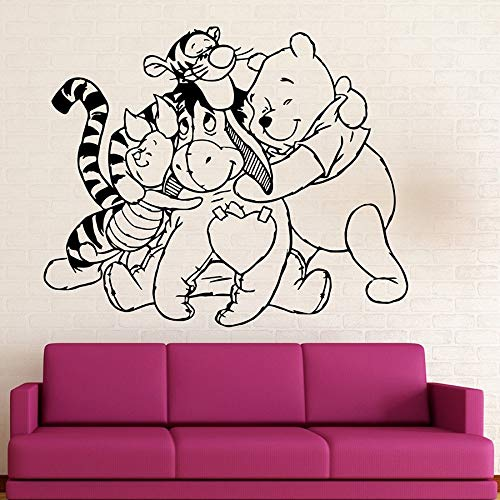 Tianpengyuanshuai Bear wall stickers and friends vinyl wall decals cartoon kids bedroom baby room home decoration wallpaper 42X50cm