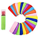 Mirenlife 24 Pack Ice Pop Sleeves Antifreezing Popsicle...