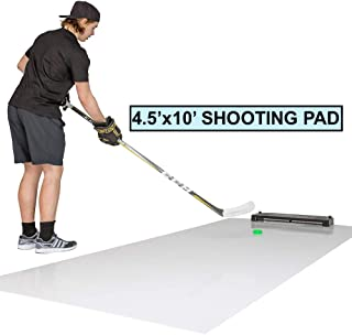 Better Hockey Extreme Passing Kit Pro XL - Great Training Aid for Shooting, Stickhandling and One Timers - Extra Large Shooting Pad with Puck Rebounder - Simulates The Feel of Real Ice