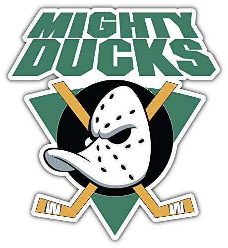10cm! Klebe-Folie Wetterfest Made-IN-Germany Anaheim Mighty Ducks NHL ID:14 H4090 UV&Waschanlagenfest Auto-Aufkleber Sticker Decal