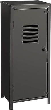 Wedestock Petite Armoire, casier vestiaire métallique déco Coloris Noir H 32cm