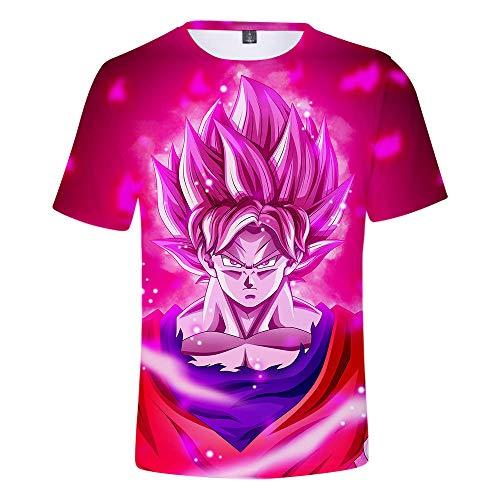 Preisvergleich Produktbild T-Shirts, T-Shirts Bluse Sport Jungen Hemd Cartoon Druck Sommer Lässig Hipster Anime T-Shirt Unisex Dragon Ball Tops Hipster XXXL
