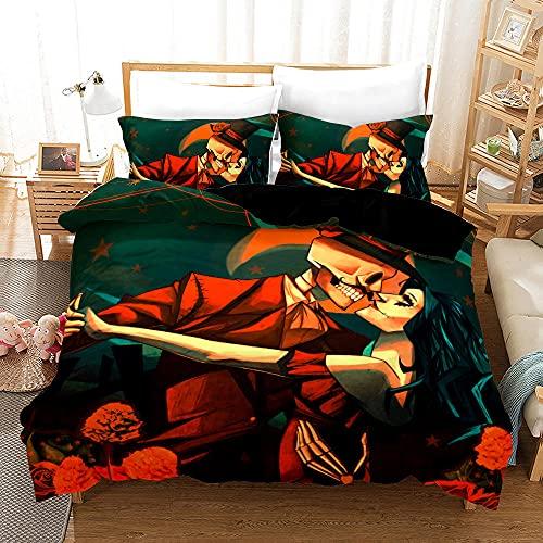 Bedclothes-Blanket Funda nórdica Funda de Colcha,Caso 3D Impresión Digital de Ropa de Cama de Tres Piezas-4_180 * 210