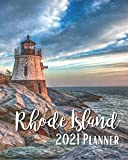 Rhode Island 2021 Planner: Weekly & Monthly Agenda | January 2021 - December 2021 | A Lighthouse In Rhode Island USA Cover Design, Organizer And Calendar, Pretty and Simple