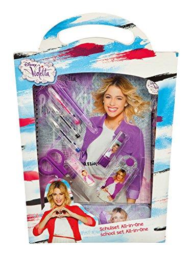 Undercover VIAE1140 - All-in-One Disney Violetta Schulset, 14-teilig, grau