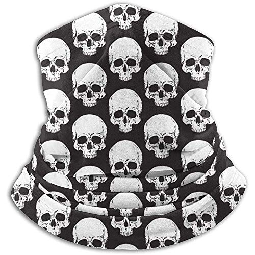 YTGHF Bufanda Neck Warmer Gaiter Skull Head Pattern Soft Microfiber Headwear Face Scarf Mask