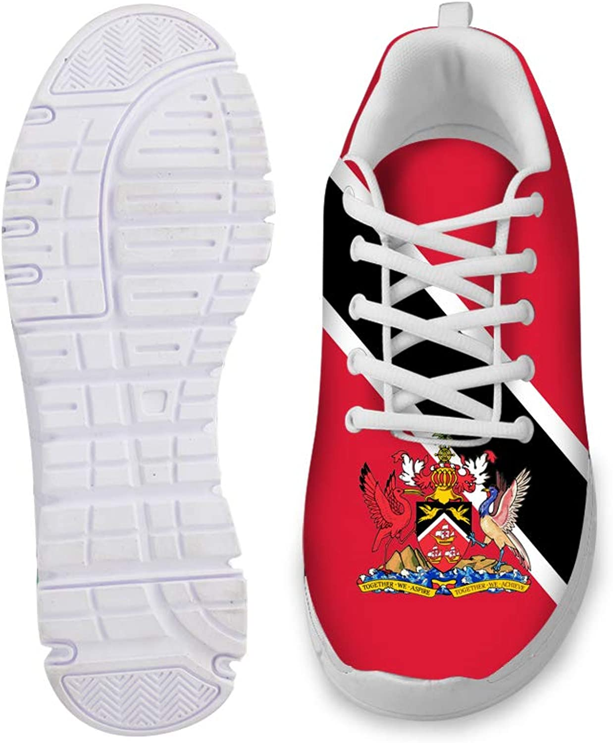 Owaheson Lace-up Sneaker Training shoes Mens Womens Trinidad and Tobago Flag National Emblem