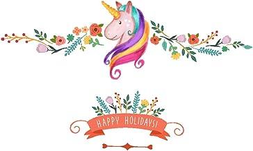 Vosarea Unicornio pelar y Pegar calcomanía de Pared removible Lindo Wallpaper Art Wallpaper Creativo decoración para Sala de Estar Dormitorio TV de Fondo