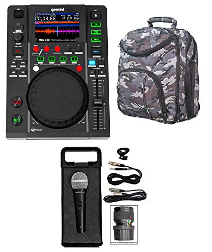 Purchase Gemini MDJ-600 Tabletop USB/CD Media Player DJ MIDI Controller+Mic+CAMOPACK