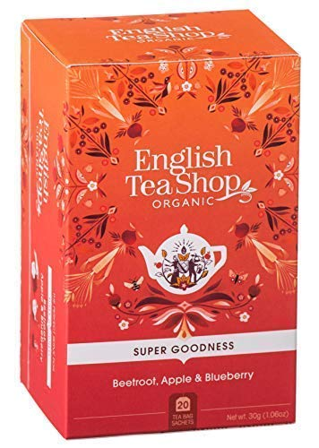 English Tea Shop Organic Beetroot, Apple and Blueberry Infusion Made in Sri Lanka - 1 x 20 Tea Bags (30 Grams)