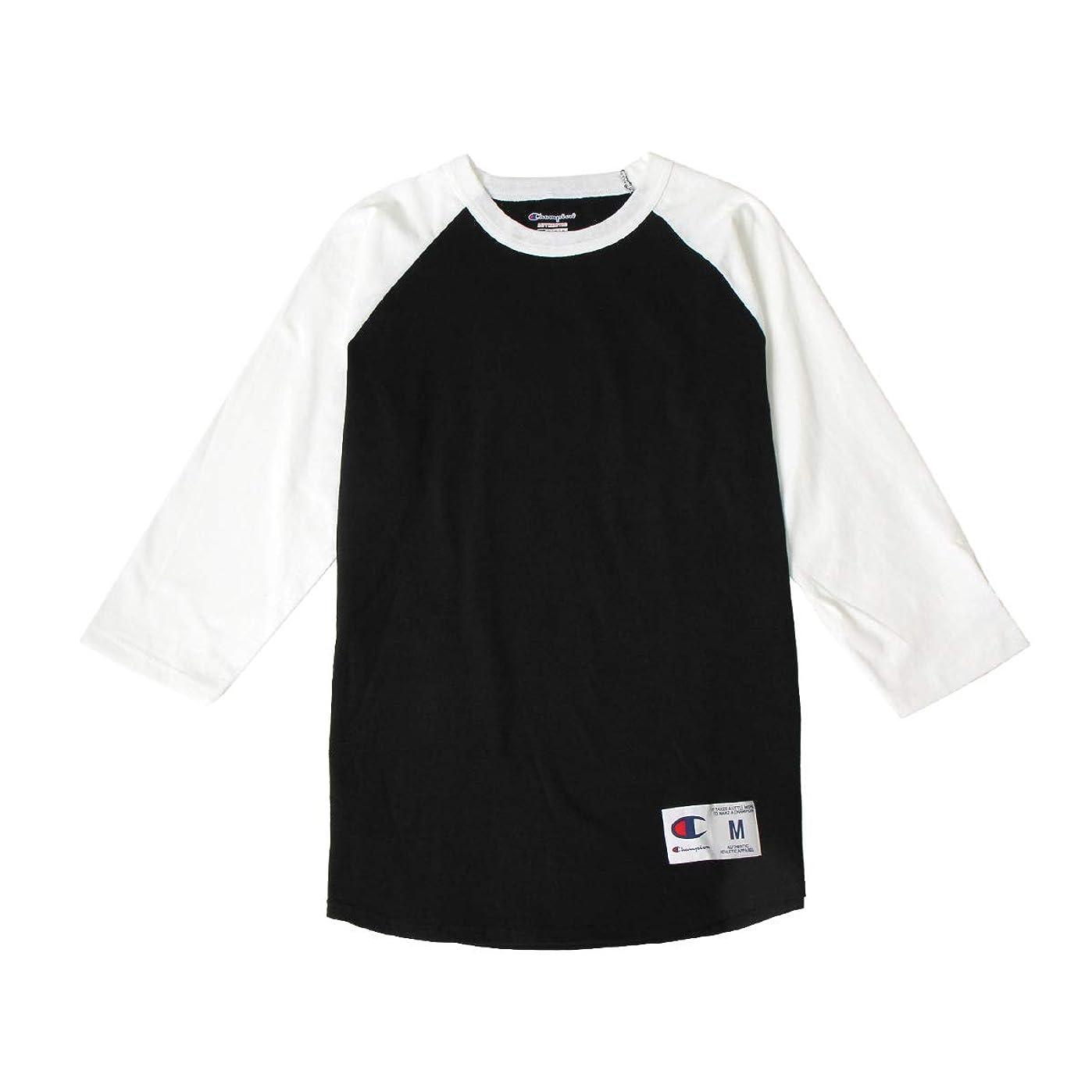 構築する太い弾性(チャンピオン)Champion Tシャツ ラグラン 5.2oz メンズ レディース クルーネック 7分袖 A-T1397