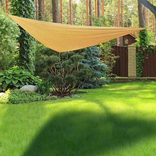 Hi Voile de Parasol Triangulaire Voile d'Ombrage Toile Pare-Soleil Protection UV Solaire Imperméable Jardin Patio Terrasse Balcon 3x3 m