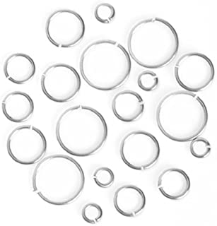 Darice Jump Ring Assortment Silver - 160 Pieces - 1 Package - 20 Gauge