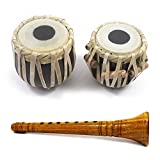 India Meets India Thanksgiving Handicraft Clarinet and 4' Tabla Drum Set 5 Years Kids, Student Tabla Set, Best Gifting Made by Awarded Indian Artisan