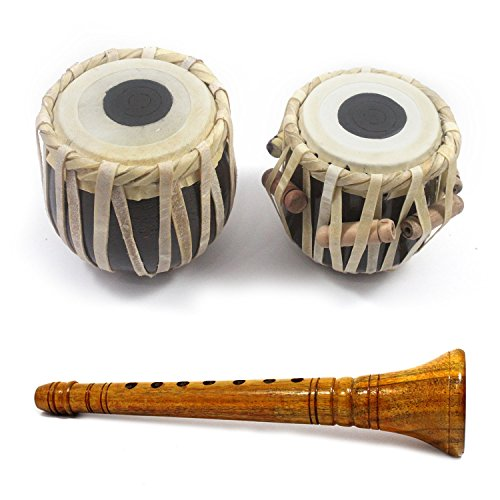 """India Meets India Handicraft Clarinet and 4"""" Tabla Drum Set 5 Years Kids, Student Tabla Set, Best Gifting Made By Awarded Indian Artisan"""