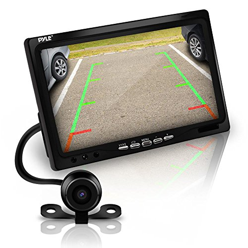 "Pyle Car Backup Camera Rearview Mirror Screen | Reverse Parking Sensor | 7"" LCD Screen Monitor 