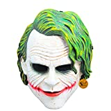 Sage Square Legendary Heath Ledger 'The Joker' Face Mask Cosplay, Role Play & Dress up for Party