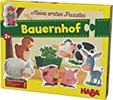 HABA 302412 Puzzle Puzzle - Rompecabezas (Puzzle Rompecabezas, Granja, Niños, Farmyard, 2 año(s), Cartón, Madera)