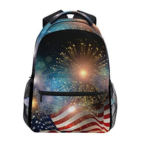 DXG1, Zaino con Bandiera Americana, Unisex, per Ragazzi e Ragazze, Ideale per la Scuola