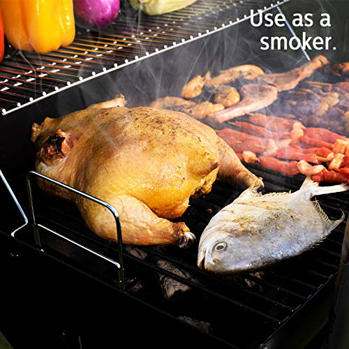 Uten Stainless Steel BBQ Grill,Outdoor Smoker Barbecue Charcoal BBQ Grill Garden, Suitable for 5-10 People BBQ Party…