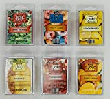6 Pack Soy Blend Wickless Candle Wax Bar Tart Melts - Fruity Pack - Includes one 6 Cube Package of Each of Fruity Loops, Lemon Pucker, Mango Papaya, Pomegranate, Pineapple, and Apple Orchard