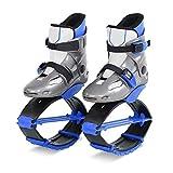 VGEBY1 Zapatos para Saltar, Zapatos de Rebote Unisex Botas de Rebote para Dar Forma al Cuerpo para Hacer Ejercicio físico(33-35-Azul Gris)