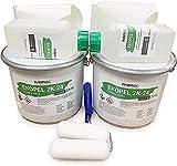 Ekopel 2K Bathtub Refinishing Kit 2 Pack Tile/Shower/Tub and Surround Size - Odorless DIY Tub with Surround Reglazing Kit - 20X Thicker Than Other Refinishing Kits - No Peel Pour On Tub Coating