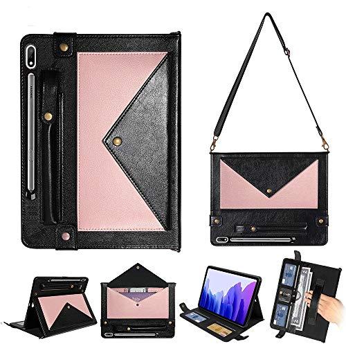 YXCY Galaxy Tab AYYD for Samsung S7 T870 / T875 de sobres de concordancia de color vuelta horizontal caja de cuero con ranuras for tarjetas y pluma ranuras y soporte y monedero y marco de fotos y corr