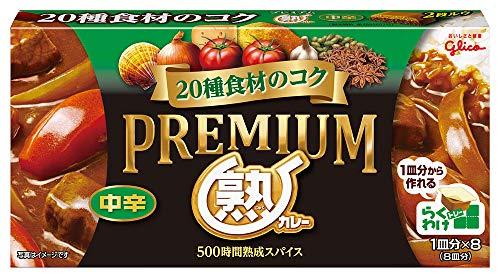 江崎グリコ プレミアム熟カレー 中辛 160g×6個