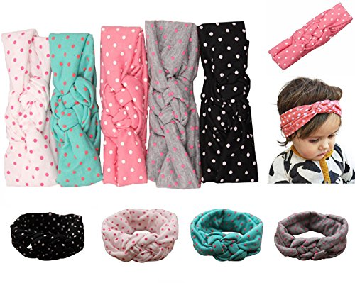 Baby Girl Headbands Newborn Infant Toddler Hairbands and Bows Child Hair Accessories (one size, ZY005)