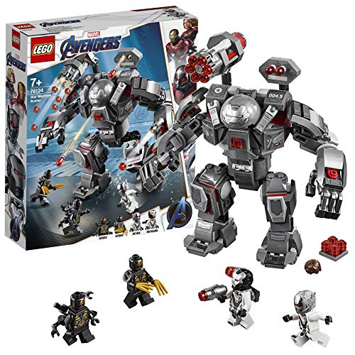 LEGO Super Heroes War Machine Buster Action Figure con Minifigure di Ant-Man, Playset dei Supereroi, 76124