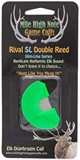 Mile High Note Game Calls Rival Slim-Line SL Double Reed Diaphragm Elk Call