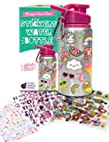 Purple Ladybug Decora la Tua Borraccia Bambini con Adesivi Bambini Colorati - Borraccia Alluminio...