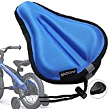 ANZOME Kids Gel Bike Seat Cushion Cover, 9'x6' Memory Foam Child Bike Seat Cover Extra Soft Small Bicycle Saddle Pad, Kids Bicycle Seat Cover with Water&Dust Resistant Cover