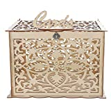 SenQing Dekor-Zubehör aus Holz Hochzeitskarte Briefkasten mit Verschluss-Sammlung Kartenschachteln Heimzubehör