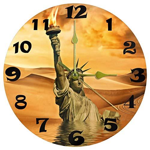 MUMIMI Apokalyptische Apokalypse Wanduhr geräuschlos nicht tickend runde Uhr Kunst Deko für Zuhause Schlafzimmer Wohnzimmer Wohnheim Zimmer Büro