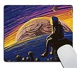 Alfombrilla de ratón espacial, astronauta para hombre, diseño de estrellas planetas Mars Earth Personality Desings Gaming Mouse Pad 9.5 x 7.9 pulgadas (240 mm x 200 mm x 3 mm)